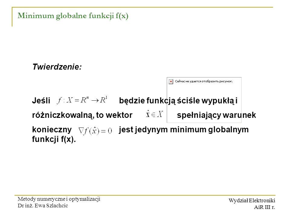 Minimum globalne funkcji f(x)