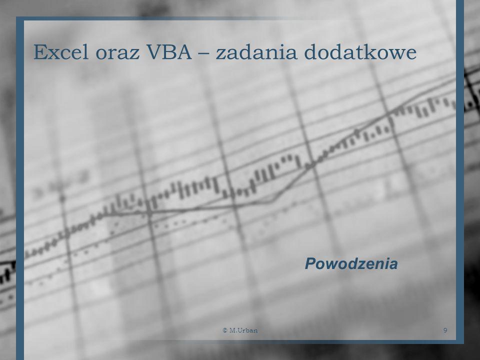 Excel oraz VBA – zadania dodatkowe