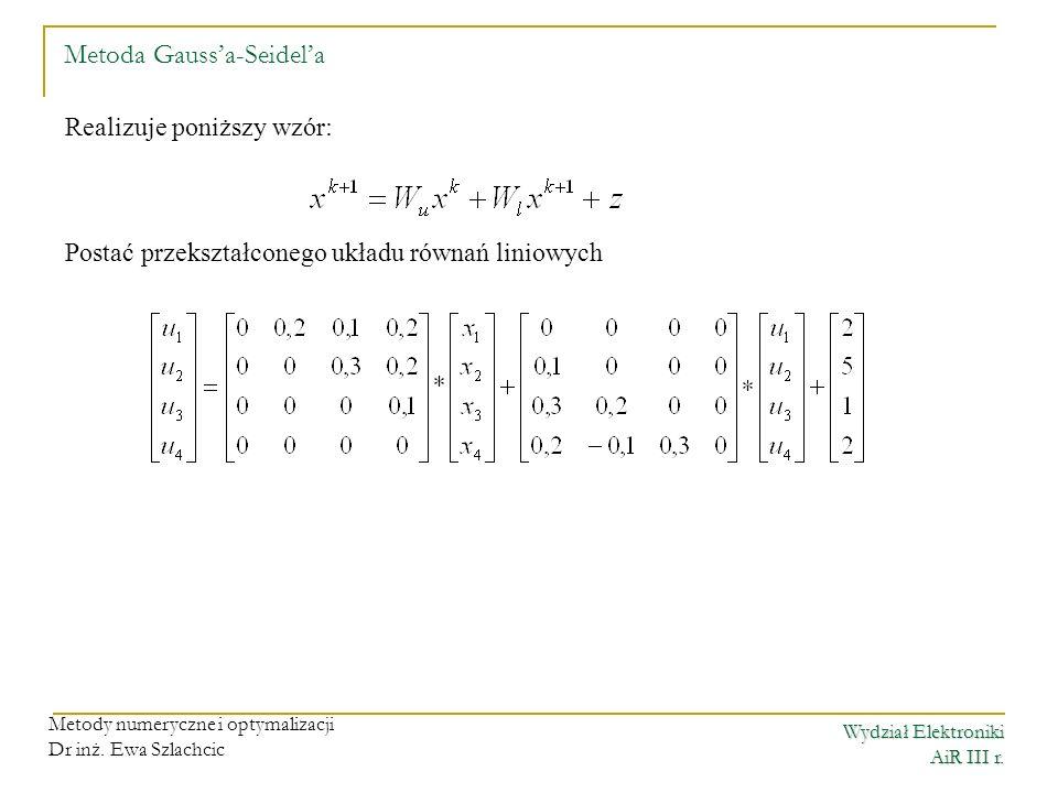 Metoda Gauss'a-Seidel'a