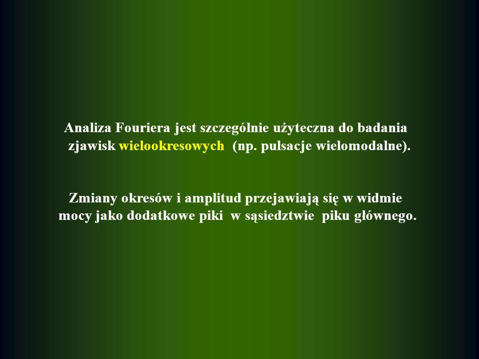 Analiza Fouriera jest szczególnie użyteczna do badania