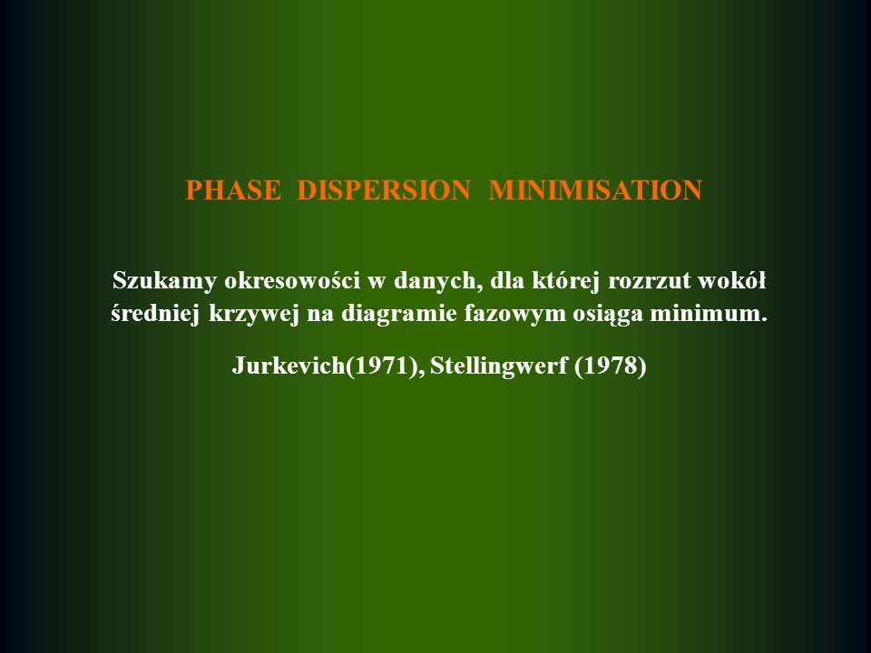 PHASE DISPERSION MINIMISATION