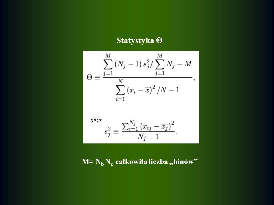 """M= Nb Nc całkowita liczba """"binów"""