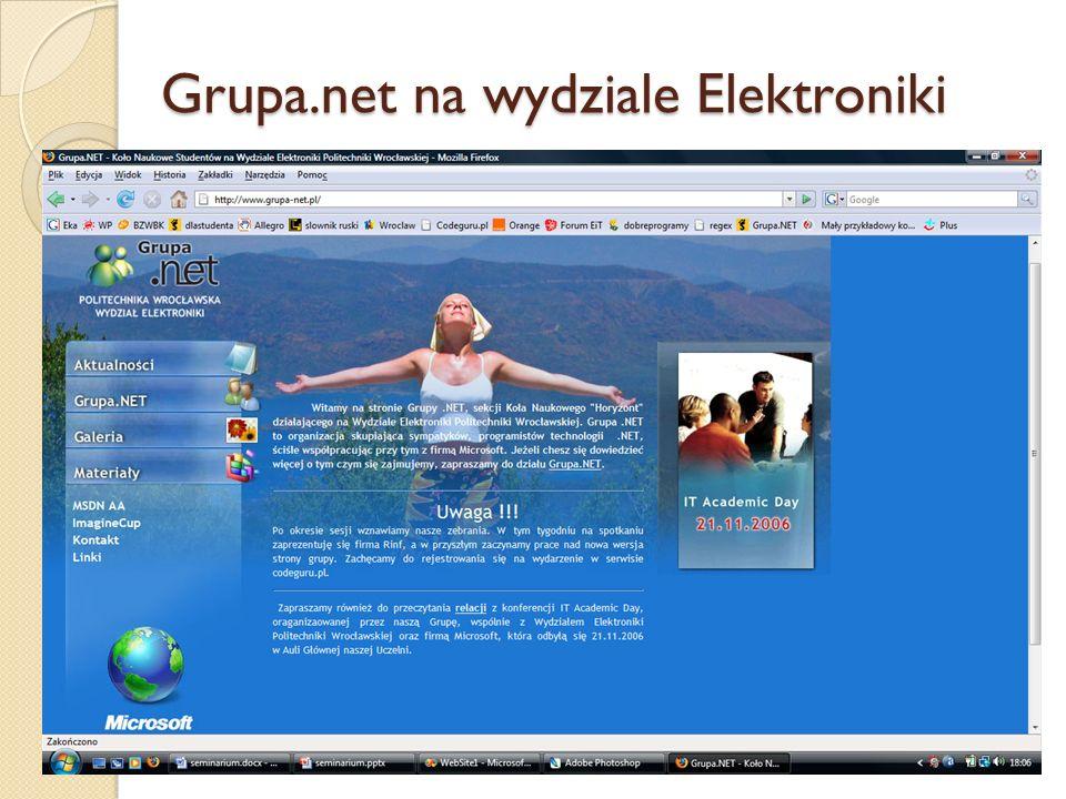 Grupa.net na wydziale Elektroniki