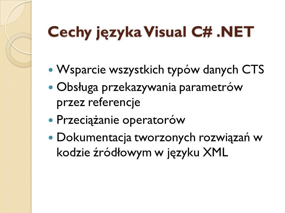 Cechy języka Visual C# .NET