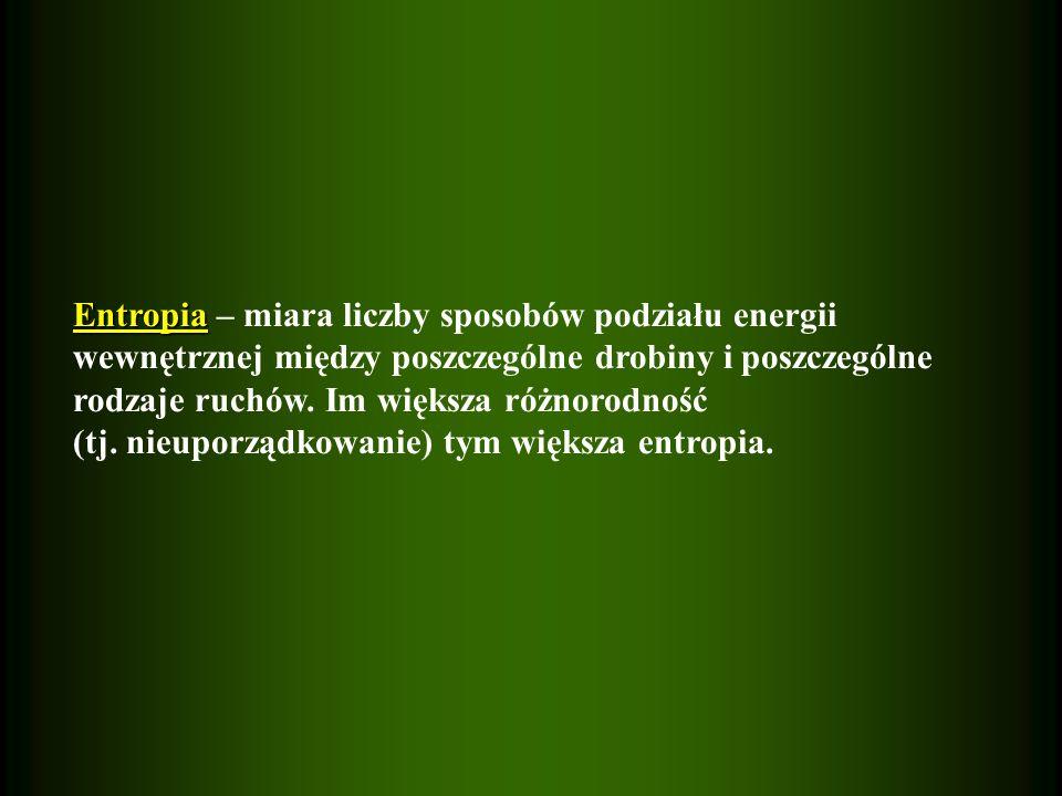 Entropia – miara liczby sposobów podziału energii