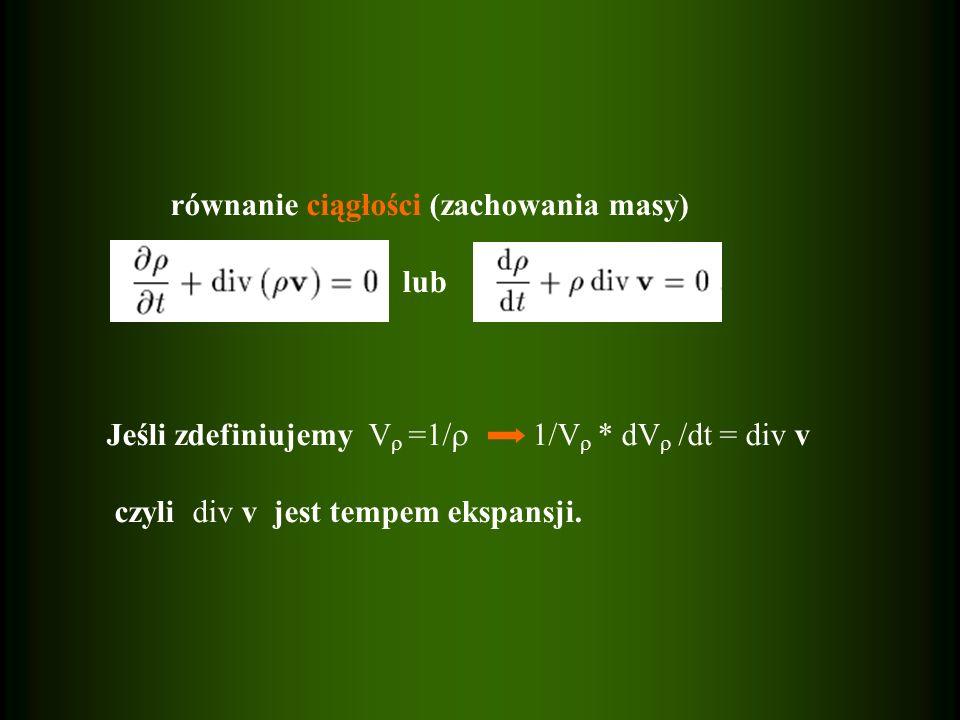równanie ciągłości (zachowania masy)