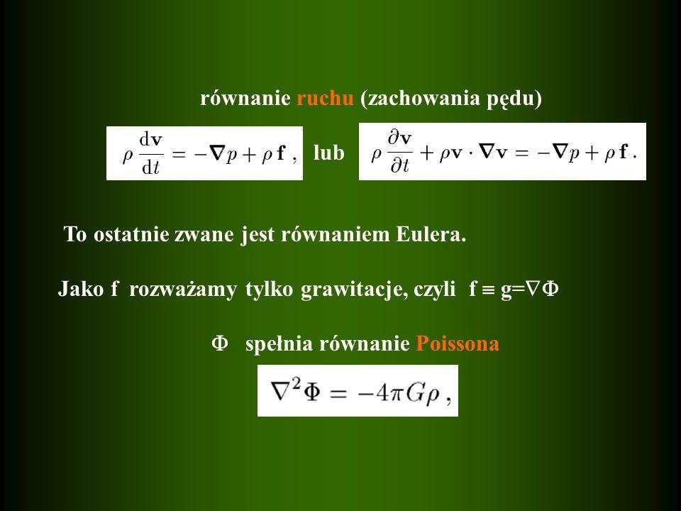 równanie ruchu (zachowania pędu)