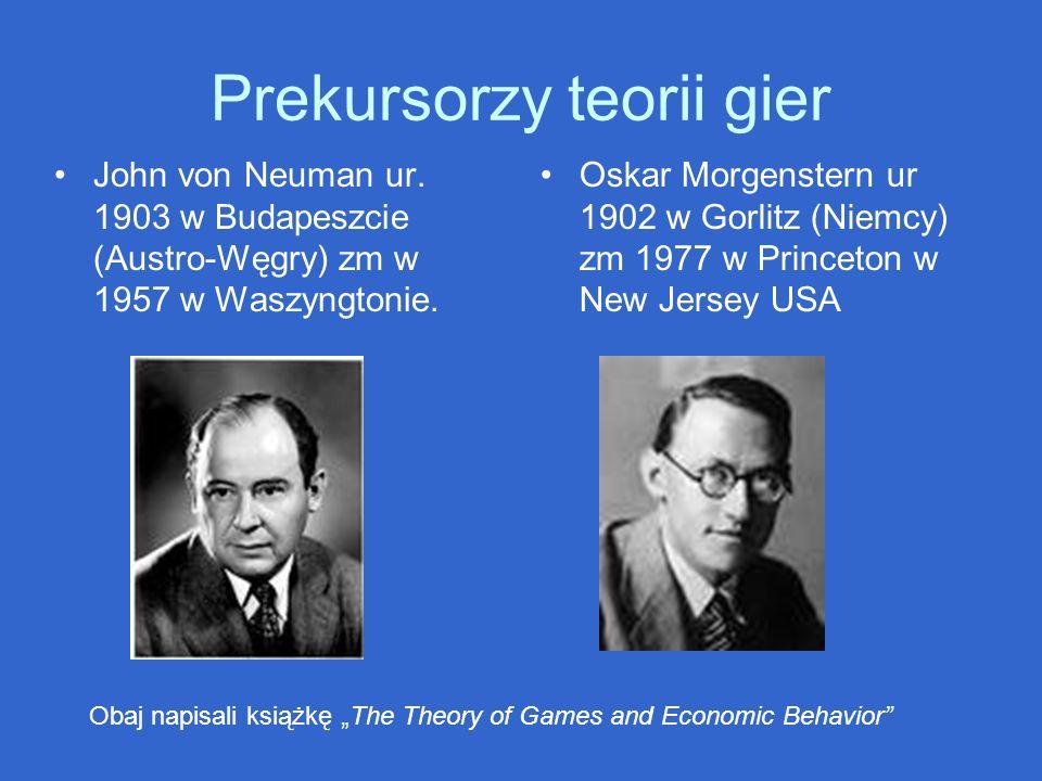 Prekursorzy teorii gier