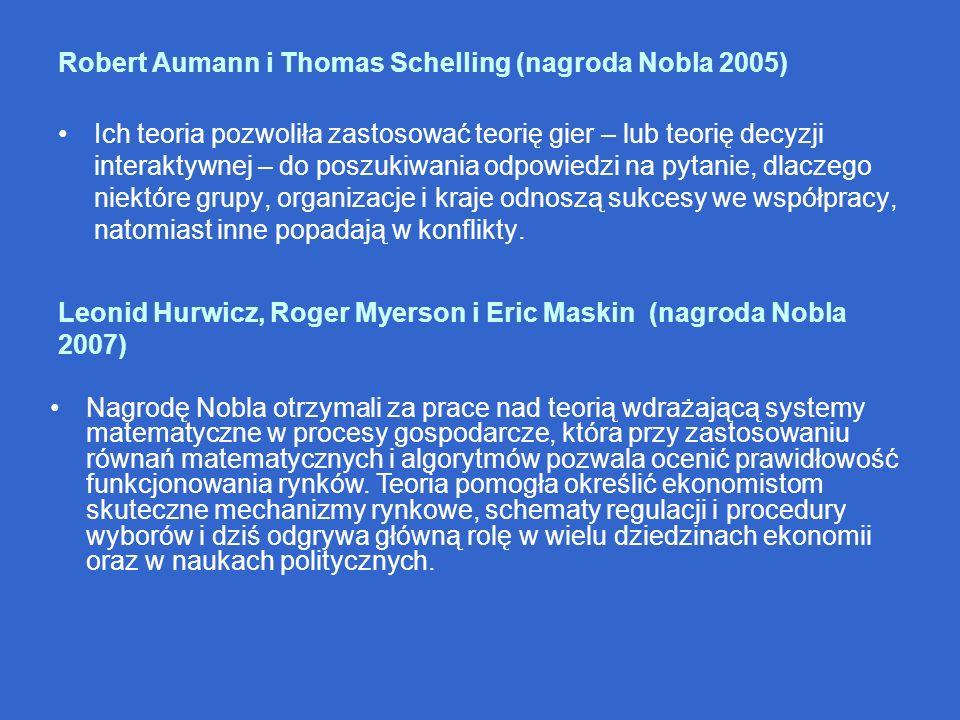 Robert Aumann i Thomas Schelling (nagroda Nobla 2005)