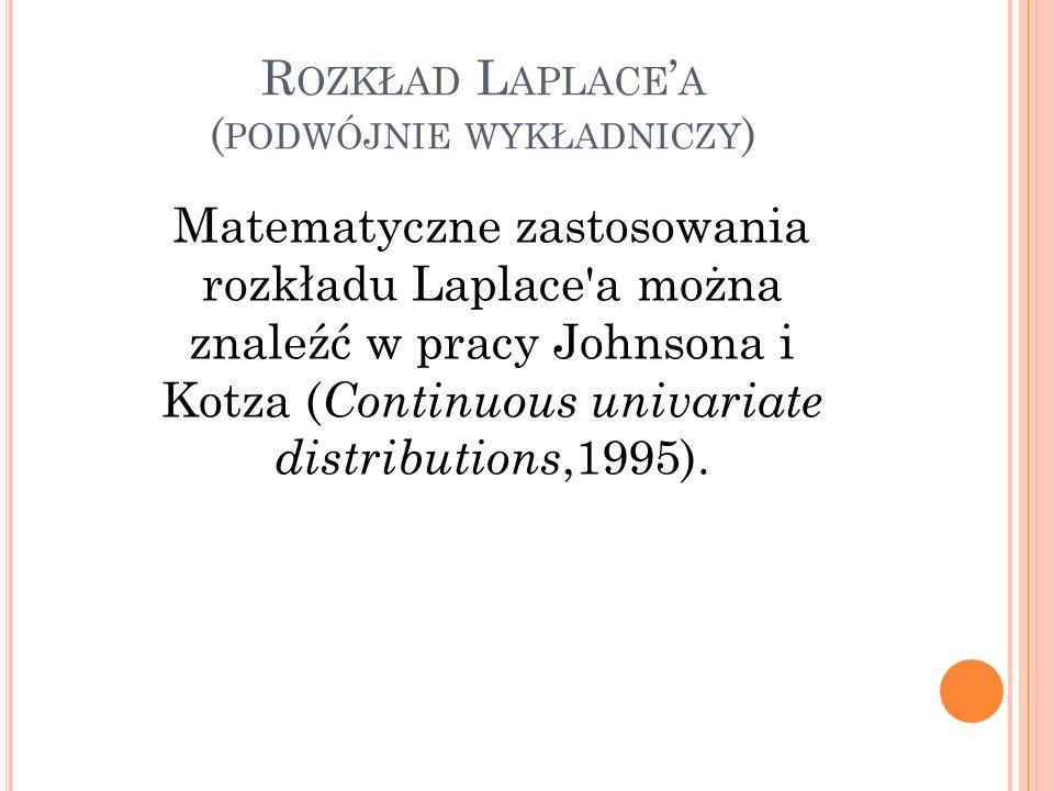Rozkład Laplace'a (podwójnie wykładniczy)