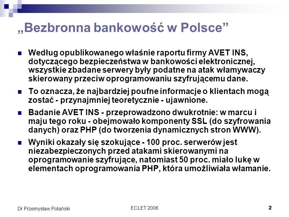 """""""Bezbronna bankowość w Polsce"""
