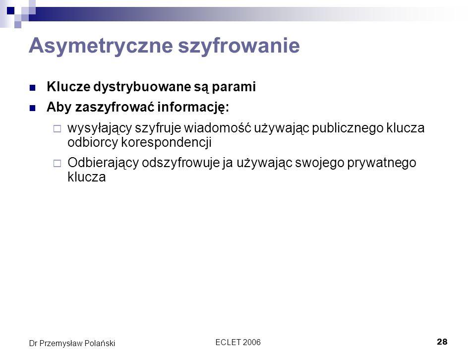 Asymetryczne szyfrowanie