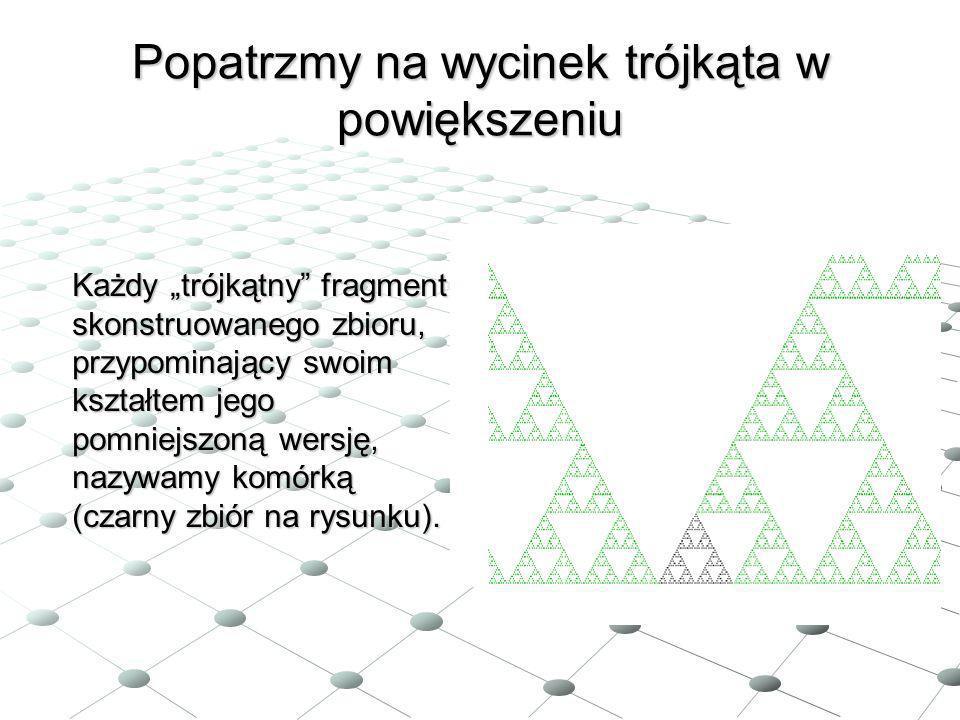 Popatrzmy na wycinek trójkąta w powiększeniu