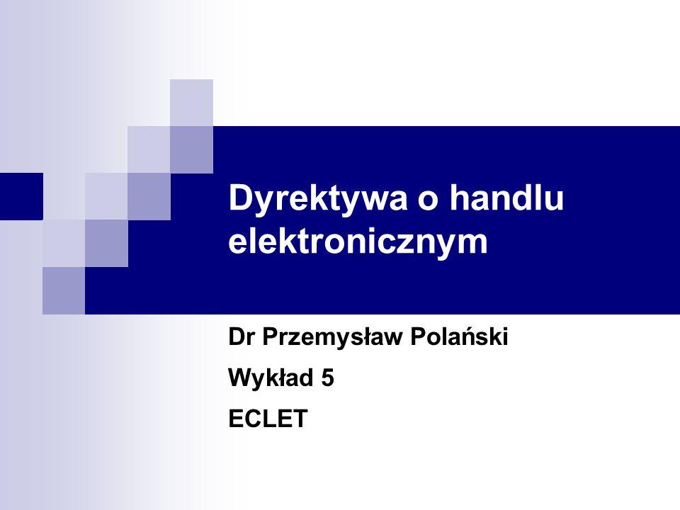 Dyrektywa o handlu elektronicznym
