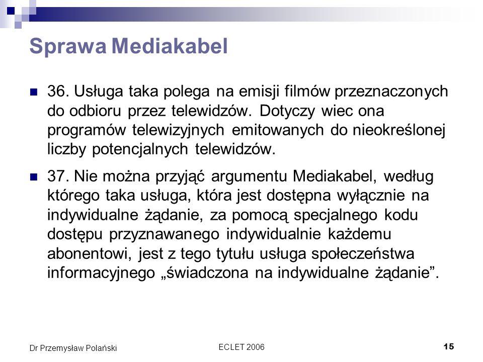 Sprawa Mediakabel