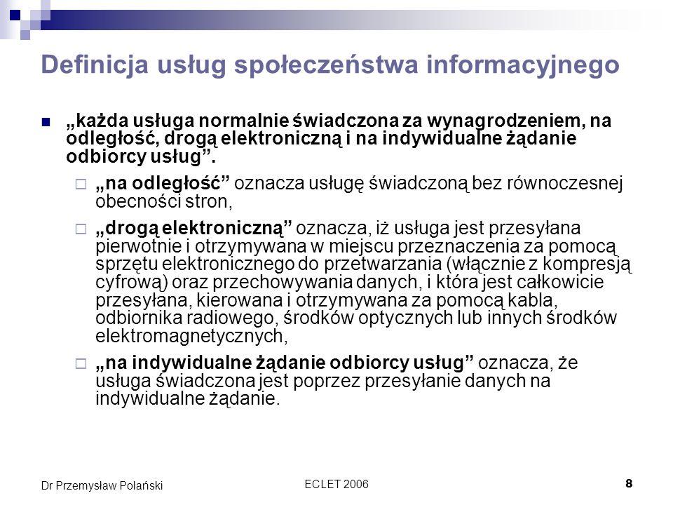 Definicja usług społeczeństwa informacyjnego