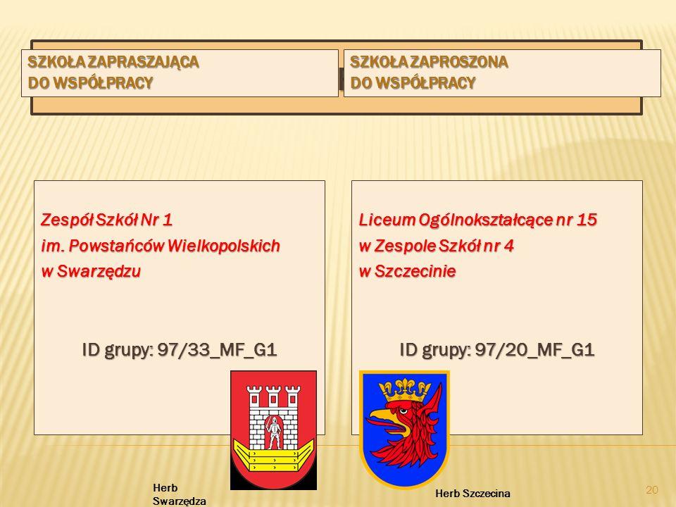 Dane INFORMACYJNE ID grupy: 97/33_MF_G1 ID grupy: 97/20_MF_G1