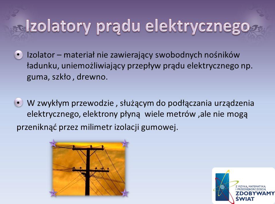 Izolatory prądu elektrycznego