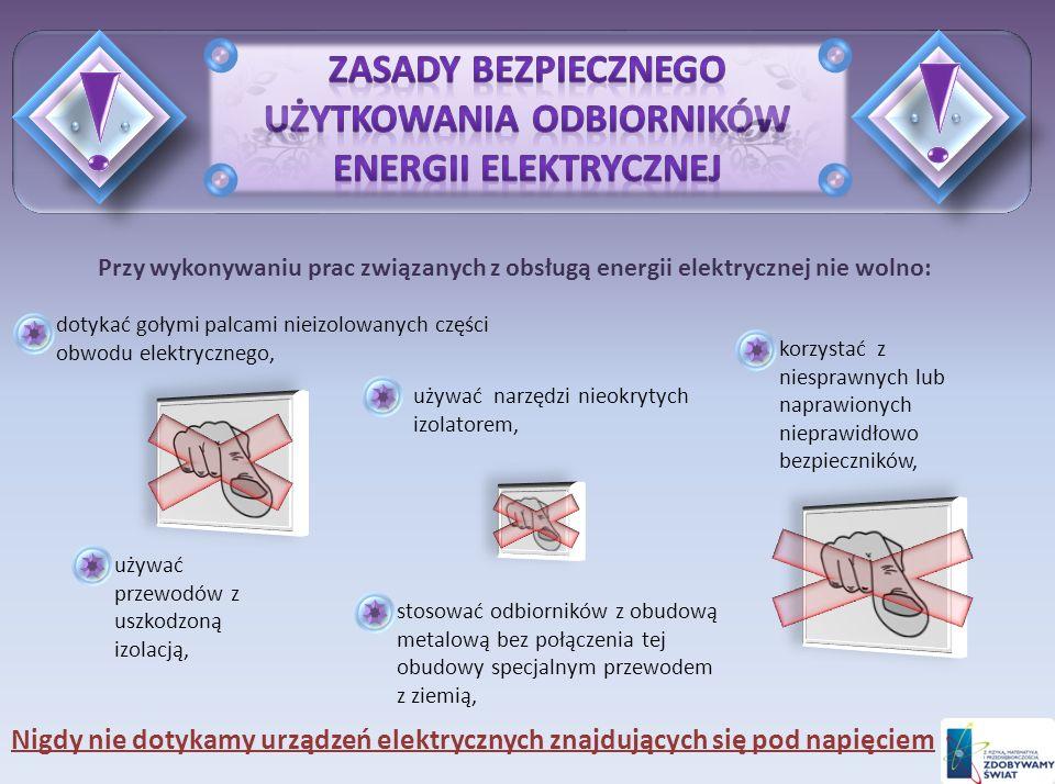 Zasady bezpiecznego użytkowania odbiorników energii elektrycznej