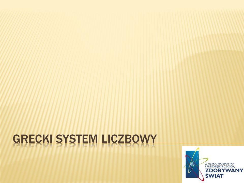Grecki system Liczbowy