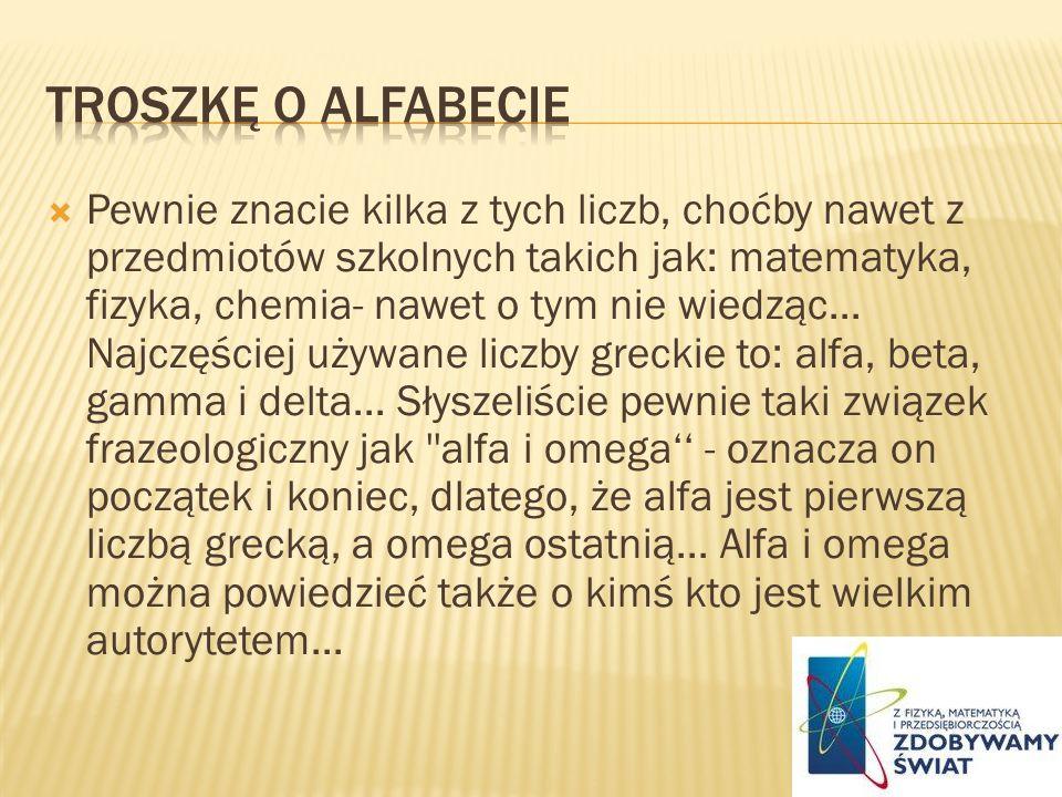 Troszkę o alfabecie