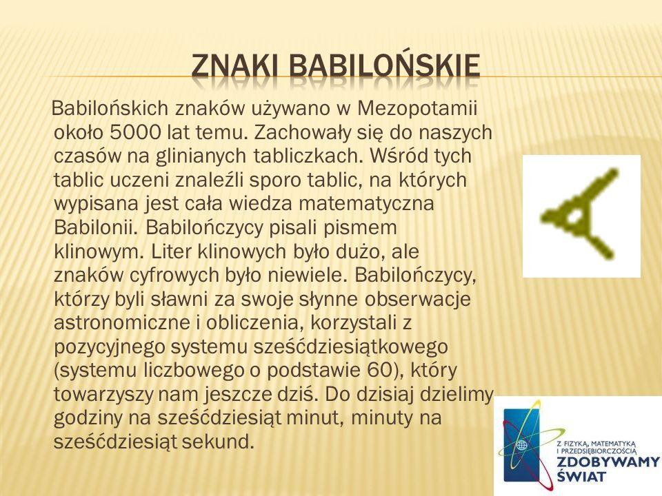 Znaki babilońskie