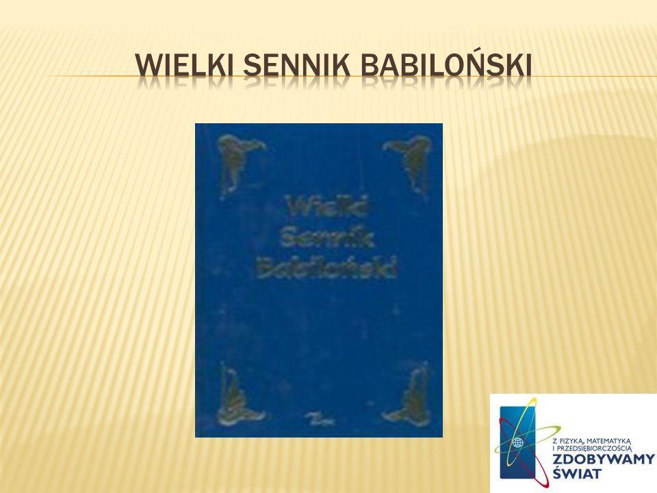 Wielki sennik babiloński