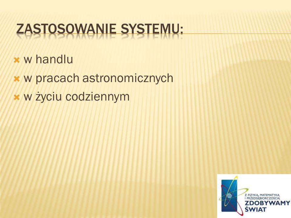 zastosowanie systemu: