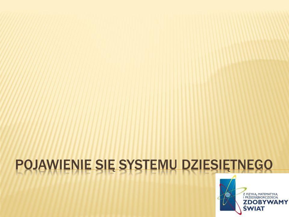 Pojawienie się systemu dziesiętnego