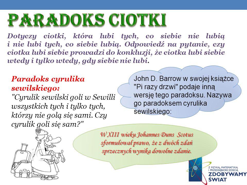 Paradoks CIOTKI Paradoks cyrulika sewilskiego: