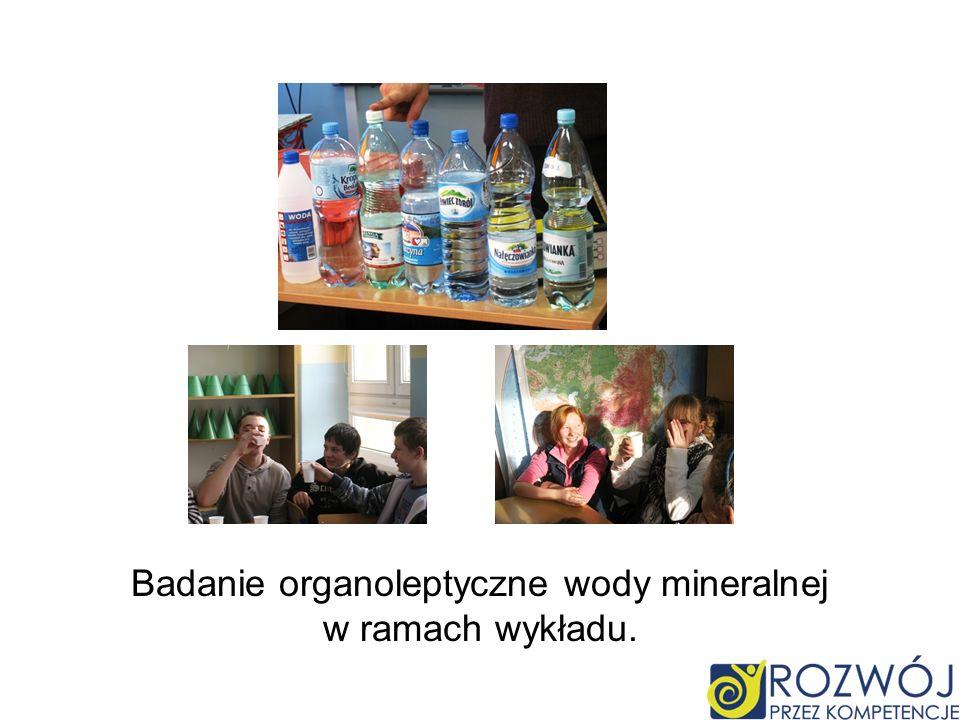 Badanie organoleptyczne wody mineralnej