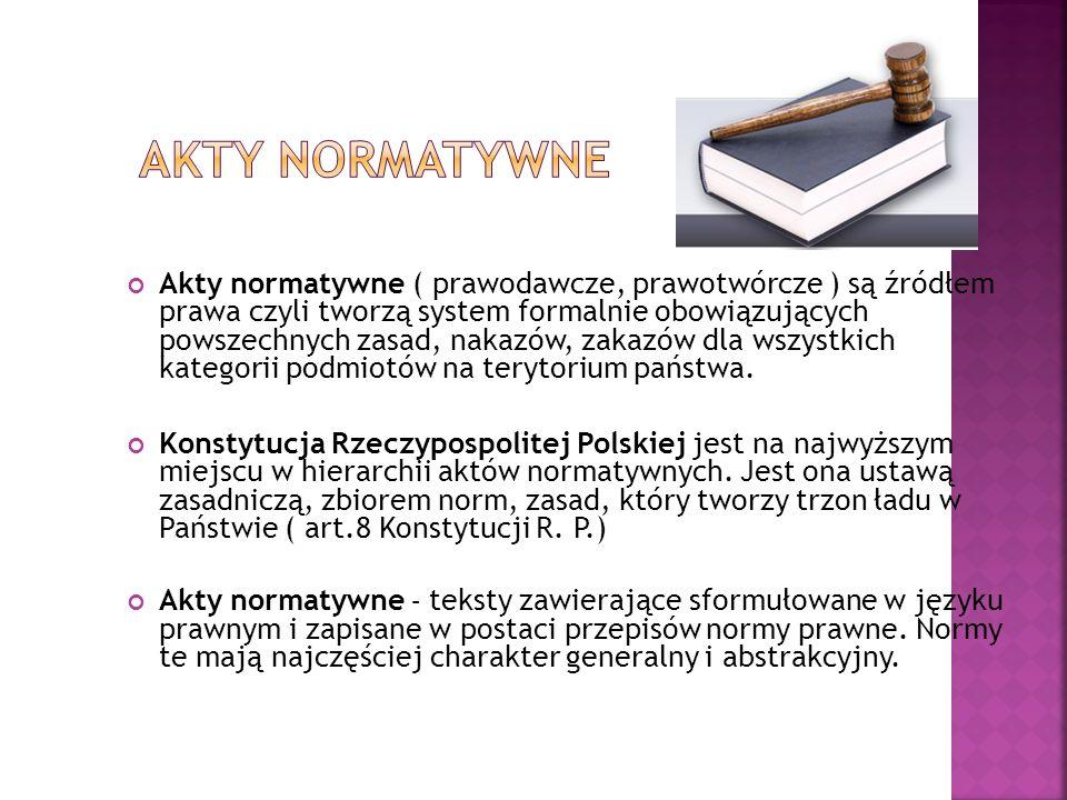 Akty normatywne