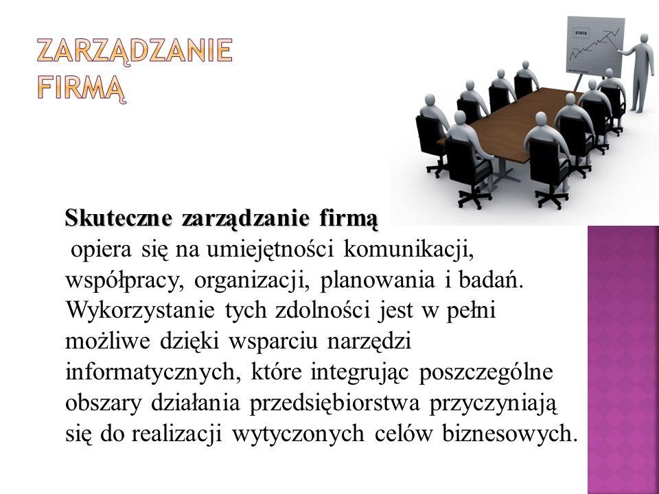 Zarządzanie firmą Skuteczne zarządzanie firmą