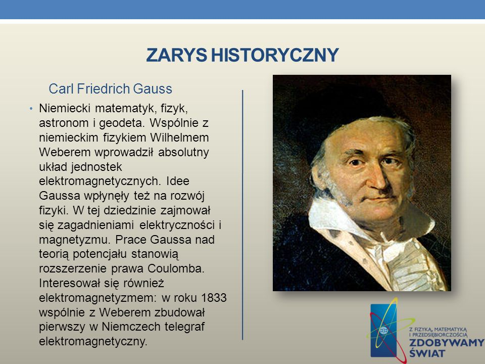 Zarys historyczny Carl Friedrich Gauss