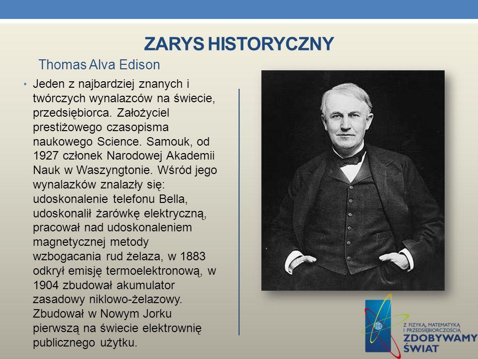 Zarys historyczny Thomas Alva Edison