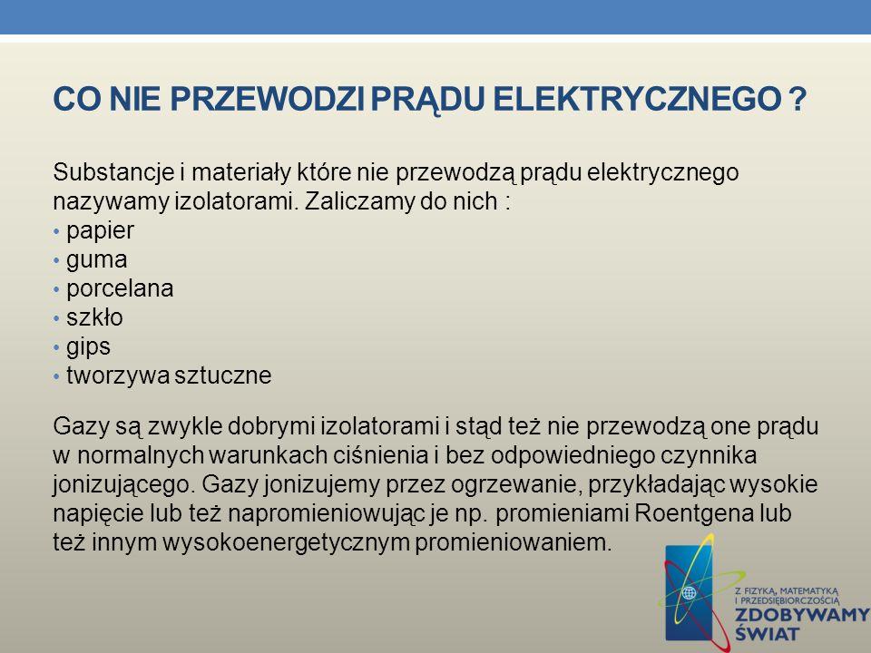 Co nie przewodzi prądu elektrycznego
