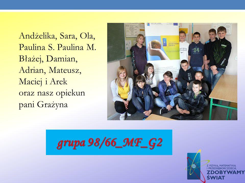Andżelika, Sara, Ola, Paulina S. Paulina M
