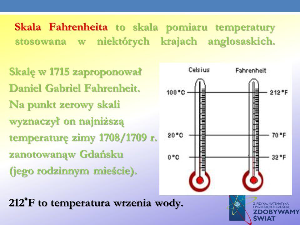 Daniel Gabriel Fahrenheit. Na punkt zerowy skali
