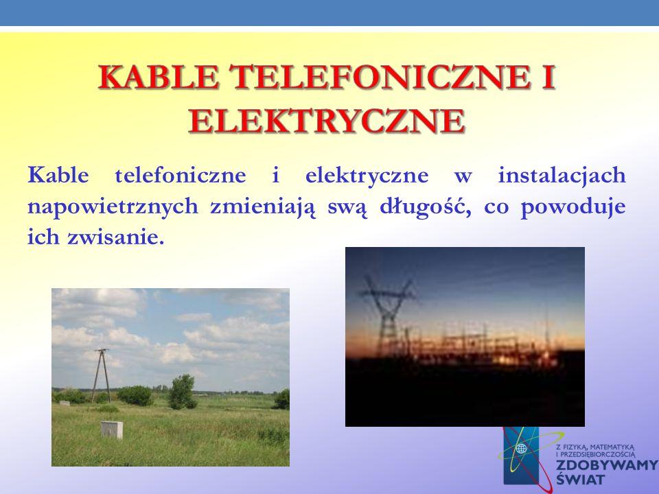 KABLE TELEFONICZNE I ELEKTRYCZNE