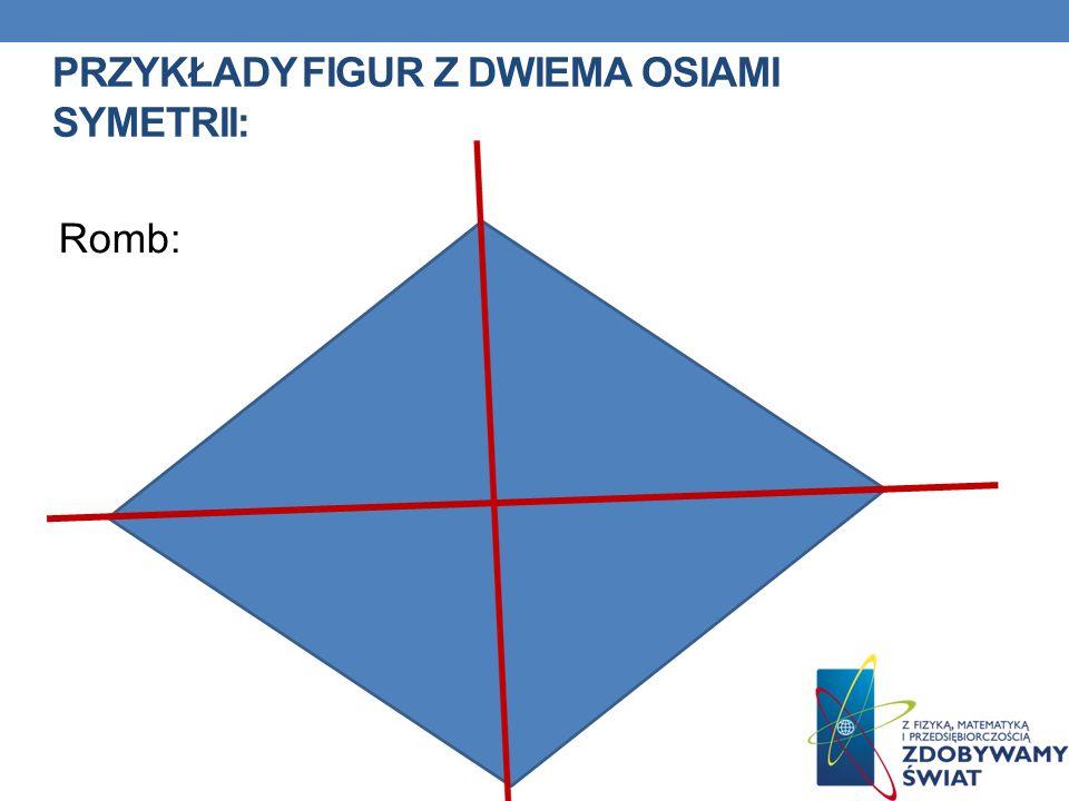 Przykłady figur z dwiema osiami symetrii: