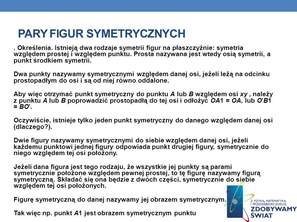 Pary figur symetrycznych
