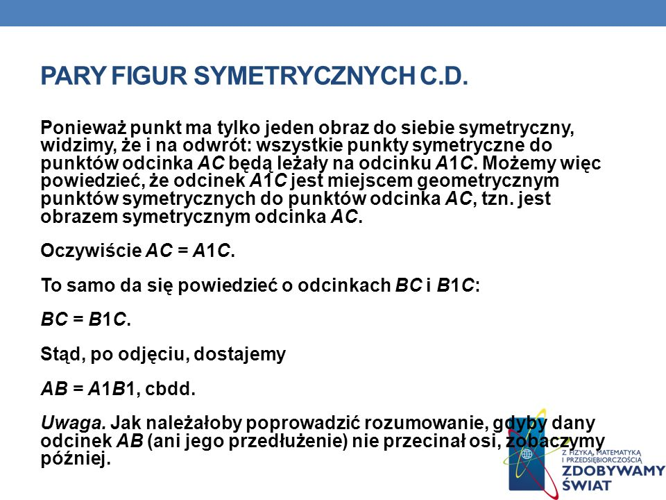 Pary figur symetrycznych c.d.