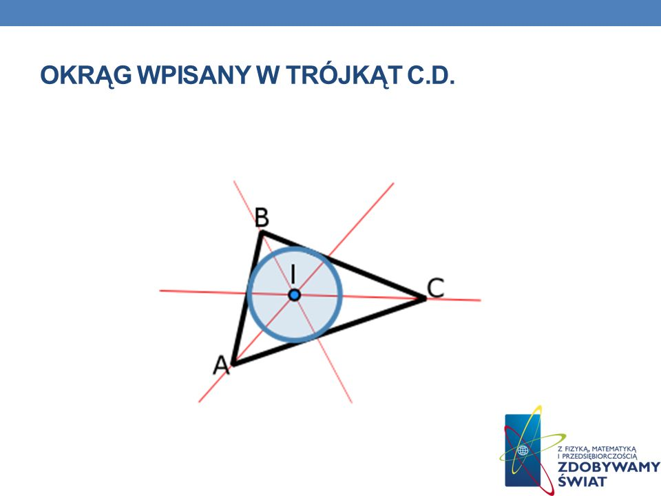 Okrąg wpisany w trójkąt c.d.