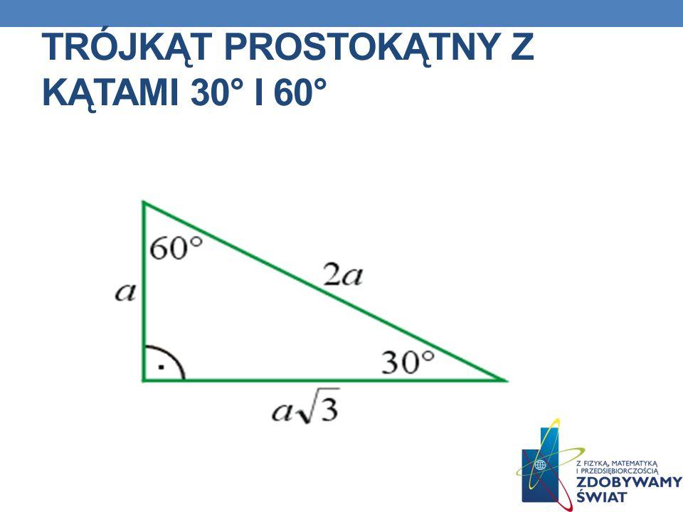 Trójkąt prostokątny z kątami 30° i 60°
