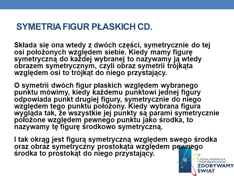 Symetria figur płaskich cd.