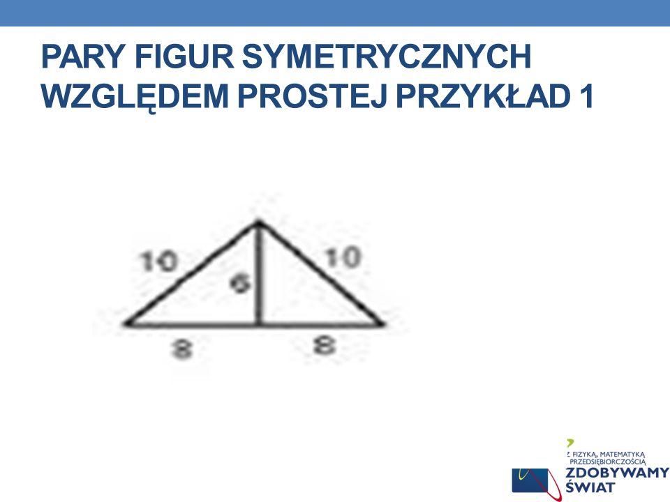 Pary figur symetrycznych względem prostej przykład 1