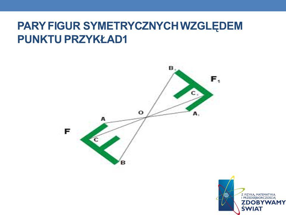 Pary figur symetrycznych względem punktu przykład1