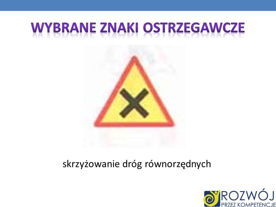 Wybrane Znaki ostrzegawcze