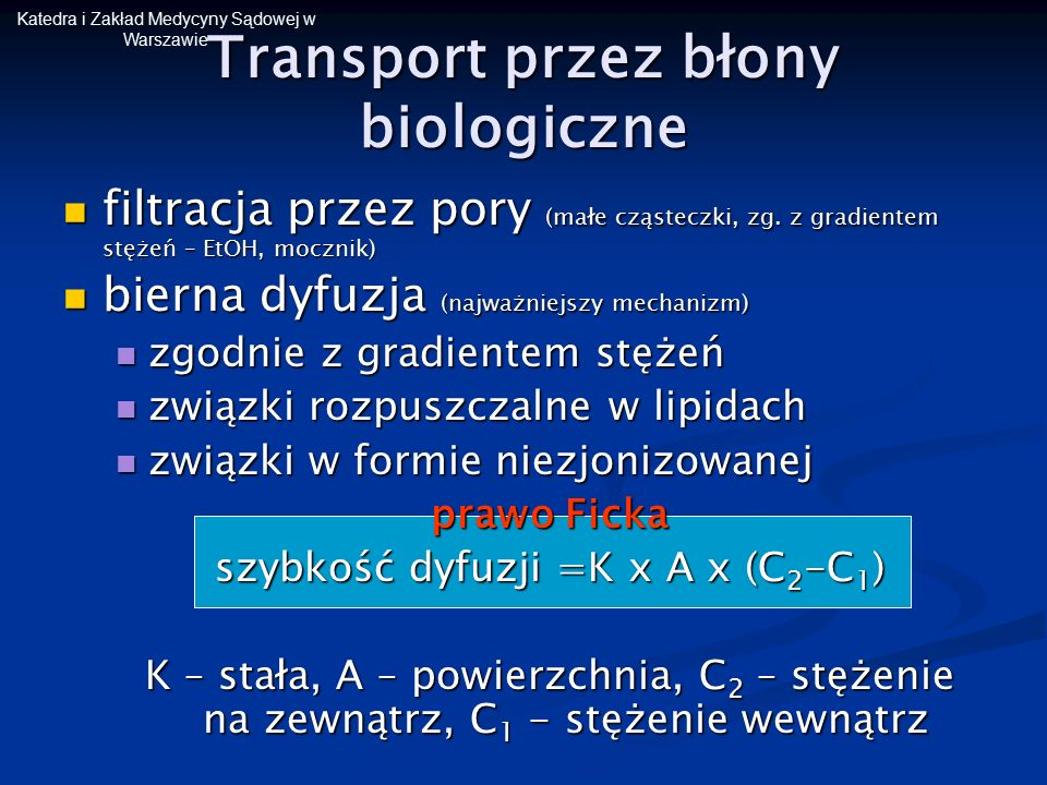 Transport przez błony biologiczne