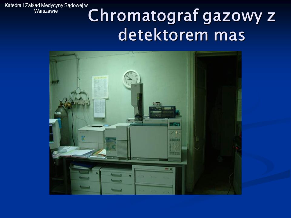 Chromatograf gazowy z detektorem mas